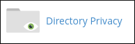 cPanel - Files - Directory Privacy