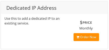 Customer Portal - Services - Order additional IP address