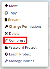 Compress file option